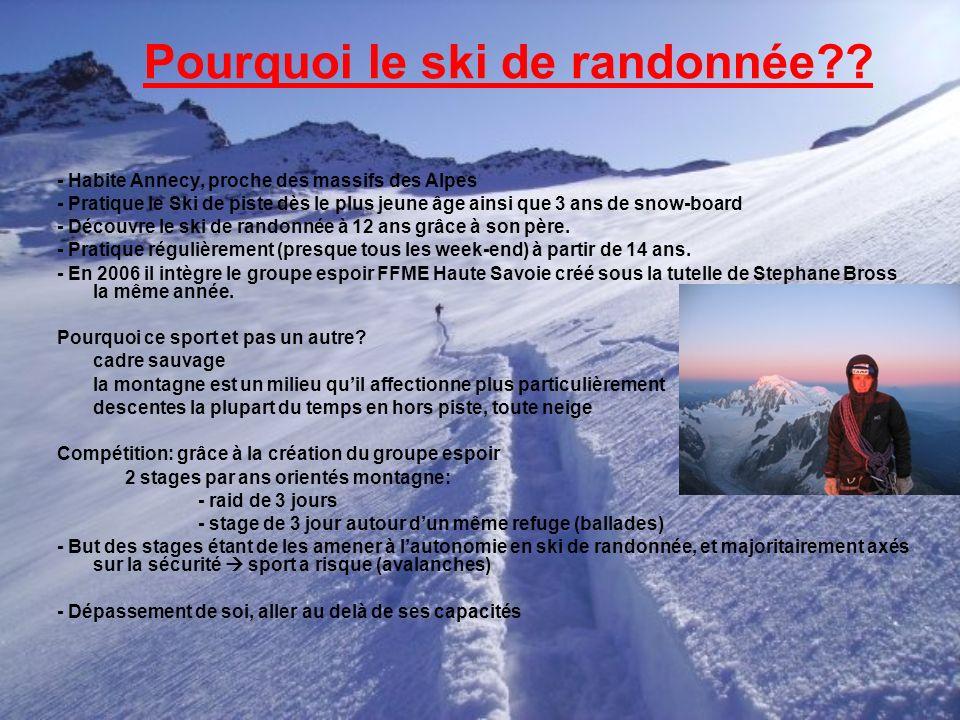 Pourquoi le ski de randonnée