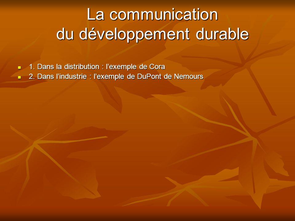 La communication du développement durable