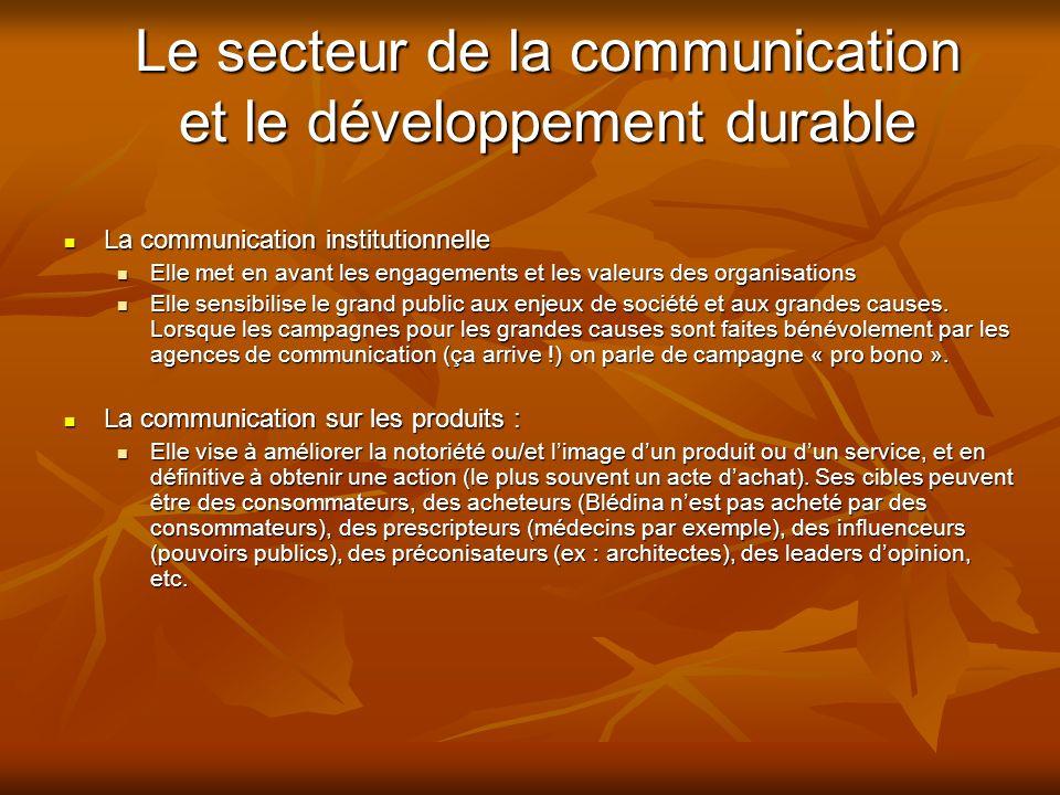 Le secteur de la communication et le développement durable