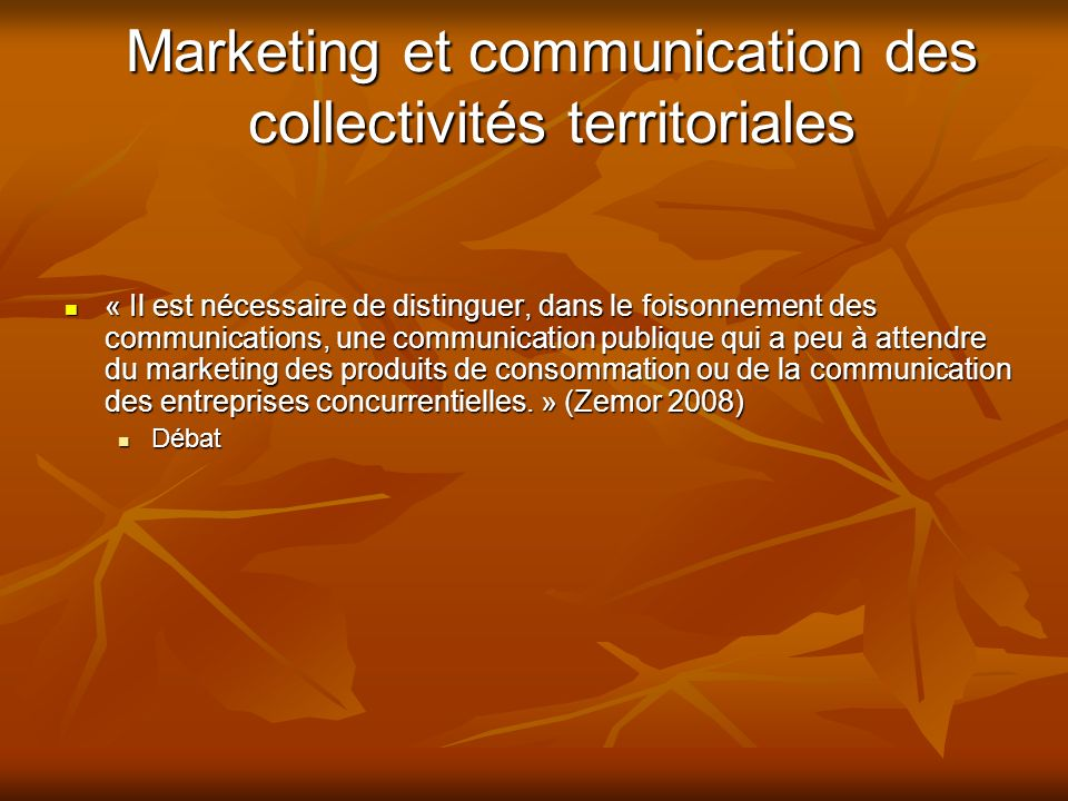 Marketing et communication des collectivités territoriales