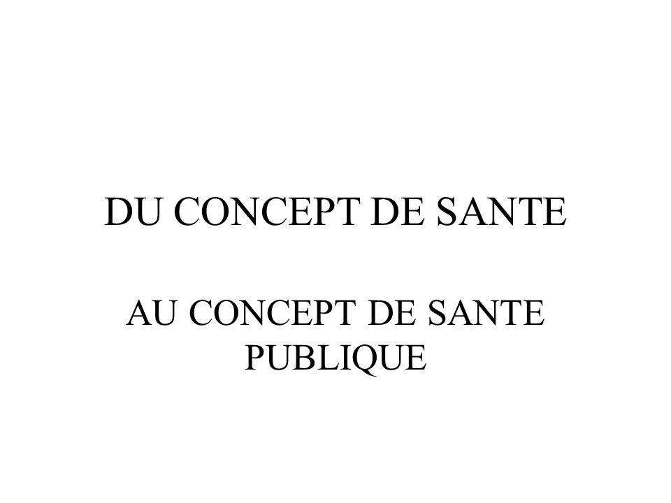 AU CONCEPT DE SANTE PUBLIQUE