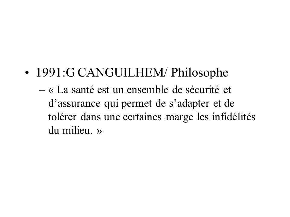 1991:G CANGUILHEM/ Philosophe