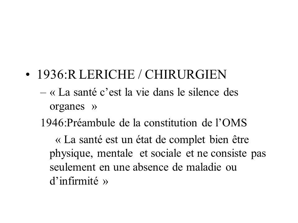 1936:R LERICHE / CHIRURGIEN
