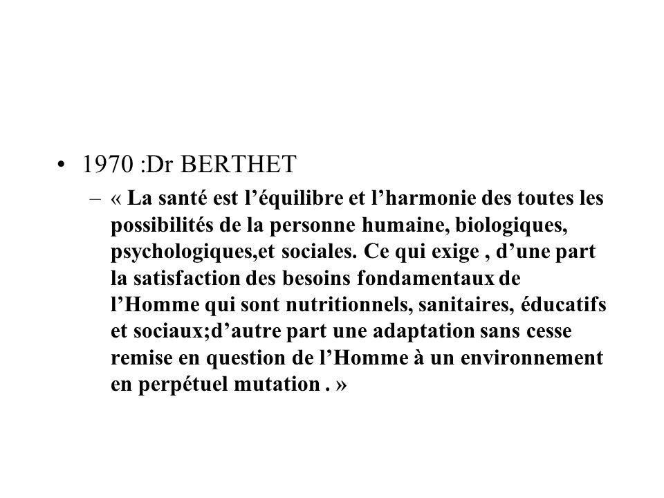 1970 :Dr BERTHET