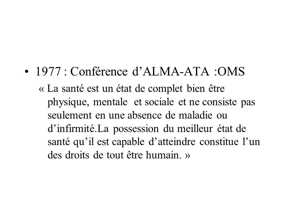 1977 : Conférence d'ALMA-ATA :OMS