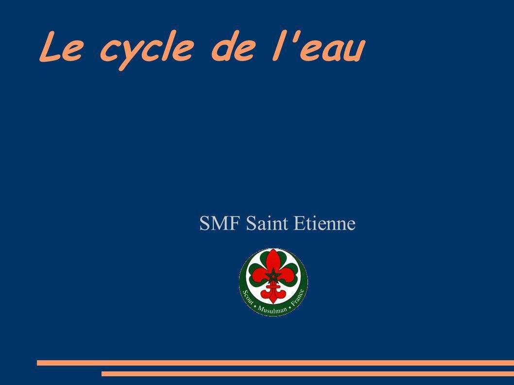 Le cycle de l eau SMF Saint Etienne