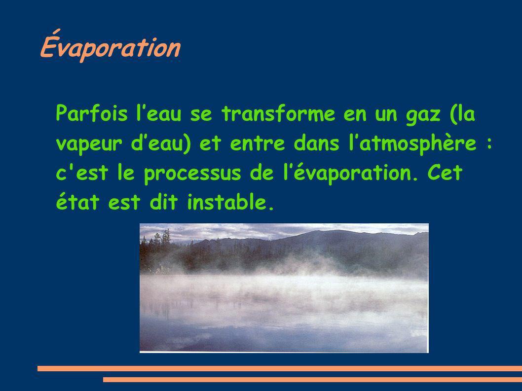 Évaporation