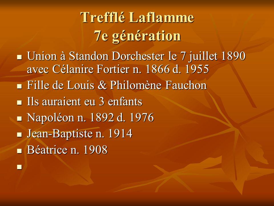 Trefflé Laflamme 7e génération