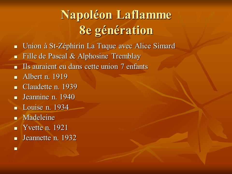Napoléon Laflamme 8e génération