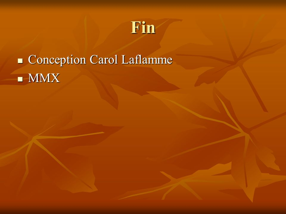 Fin Conception Carol Laflamme MMX