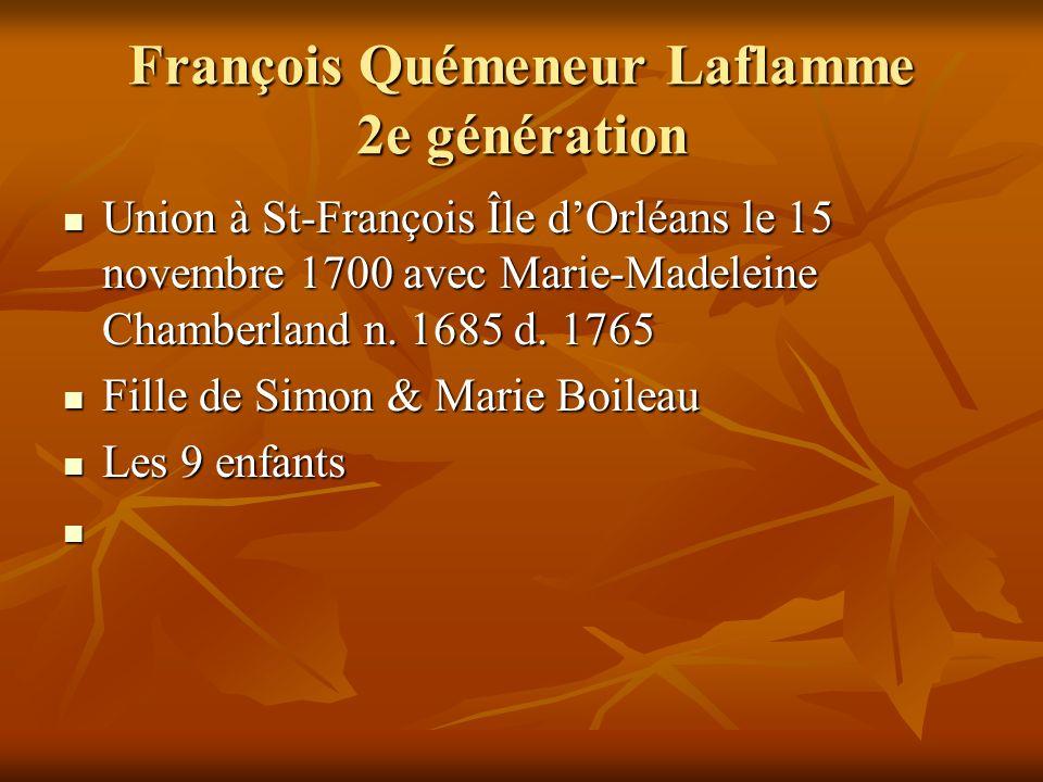 François Quémeneur Laflamme 2e génération