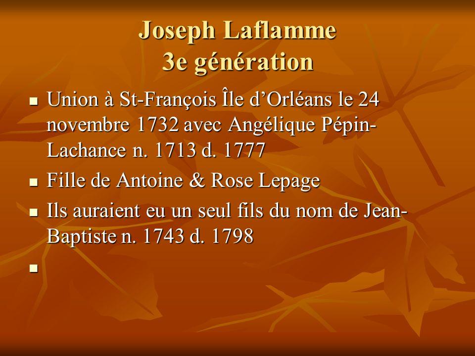 Joseph Laflamme 3e génération
