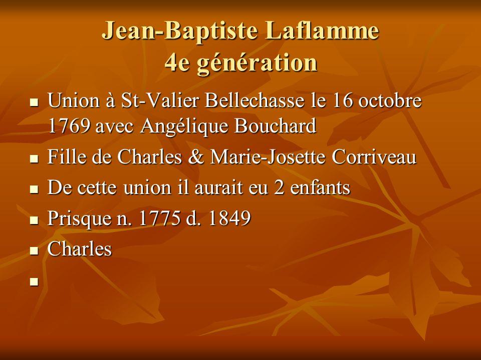 Jean-Baptiste Laflamme 4e génération