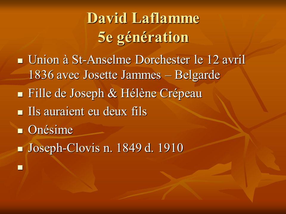 David Laflamme 5e génération