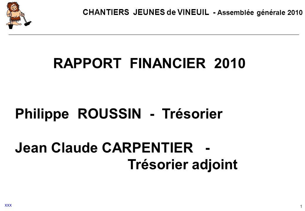 Philippe ROUSSIN - Trésorier Jean Claude CARPENTIER -