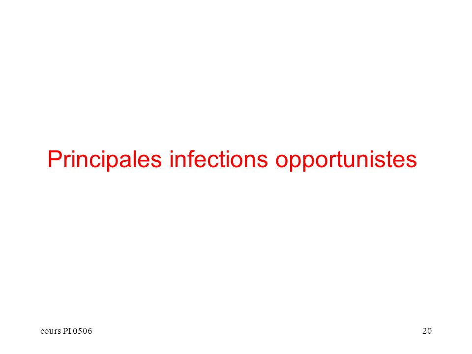 Principales infections opportunistes