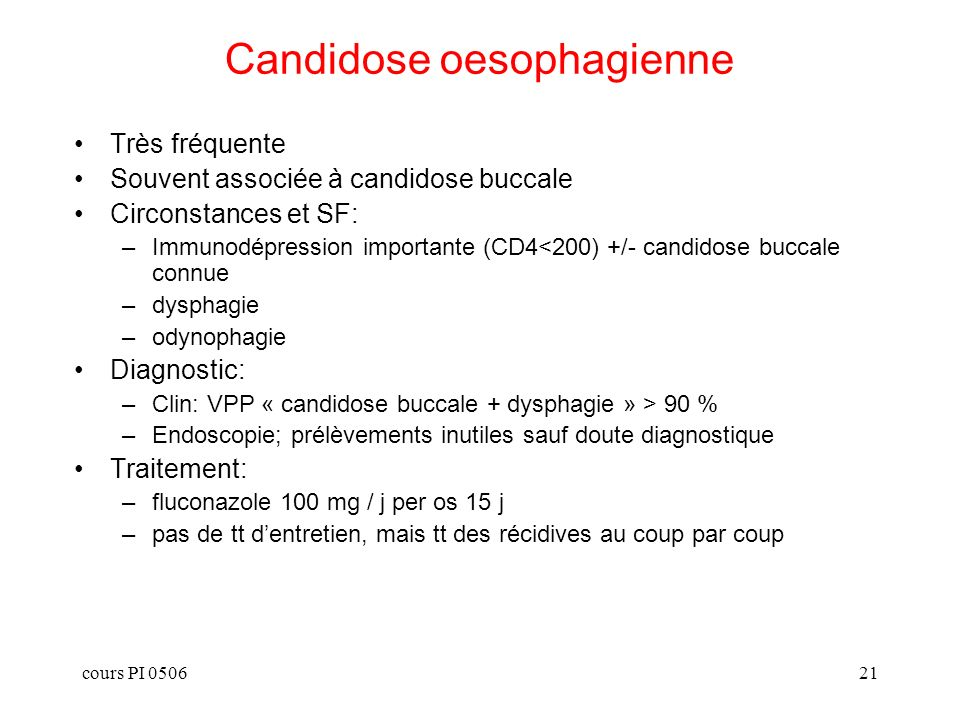 Candidose oesophagienne