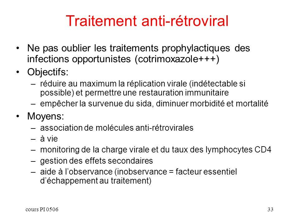 Traitement anti-rétroviral
