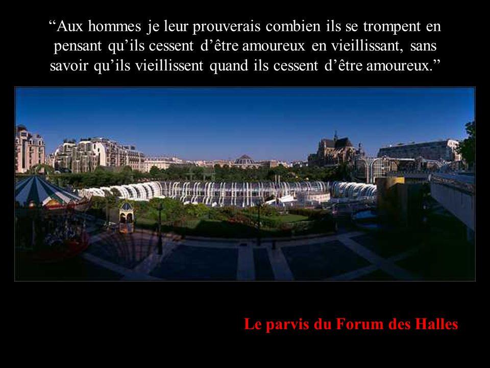 Le parvis du Forum des Halles