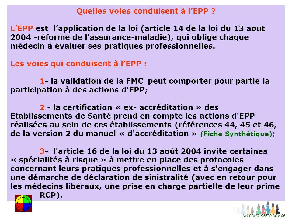 Quelles voies conduisent à l'EPP