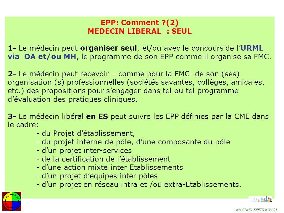 EPP: Comment (2) MEDECIN LIBERAL : SEUL