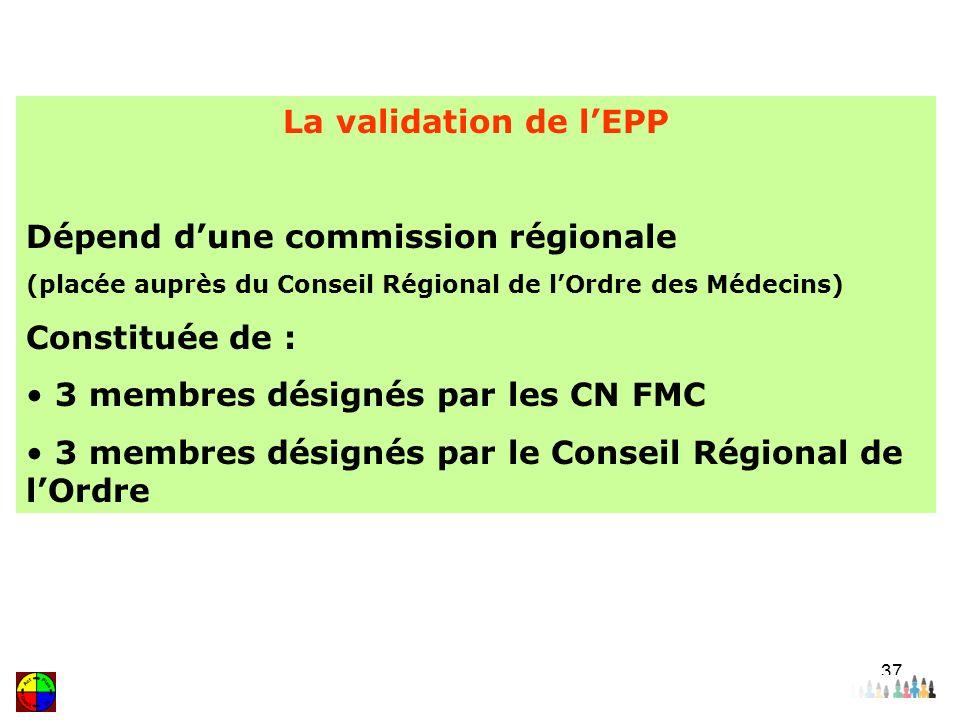Dépend d'une commission régionale