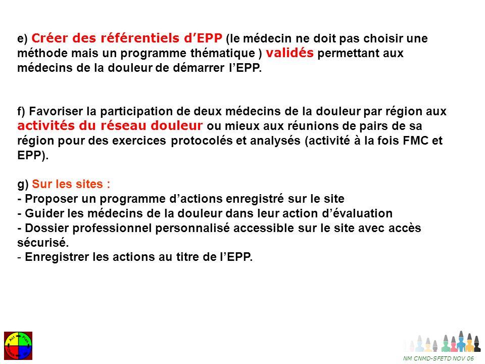 Enregistrer les actions au titre de l'EPP.