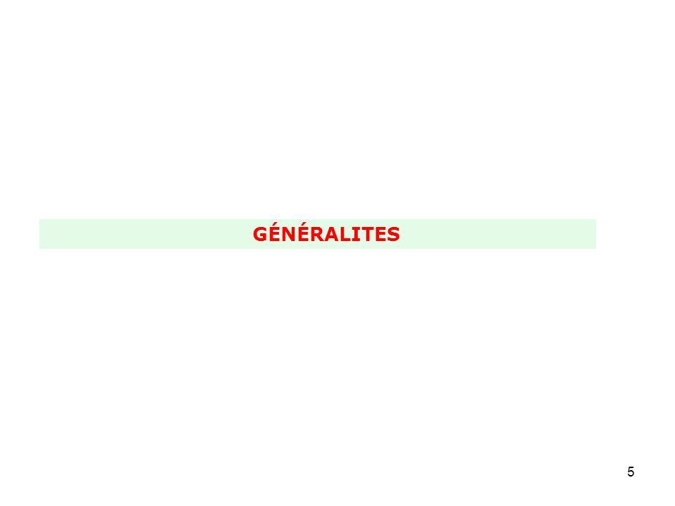 GÉNÉRALITES
