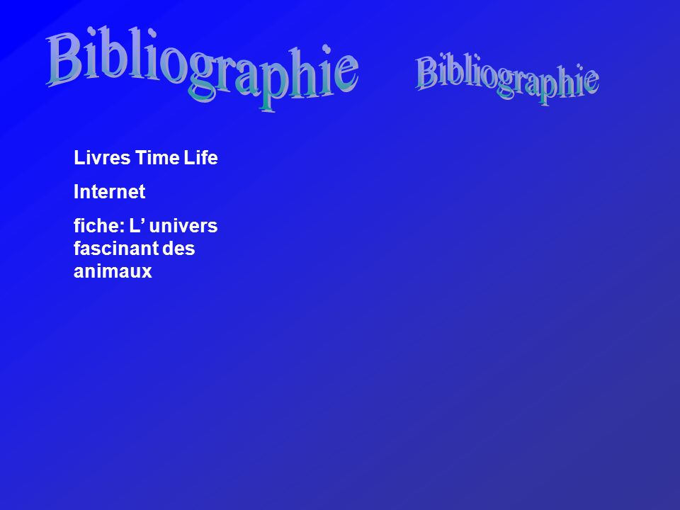 Bibliographie Bibliographie Livres Time Life Internet