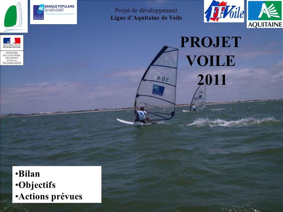 PROJET VOILE 2011 Bilan Objectifs Actions prévues