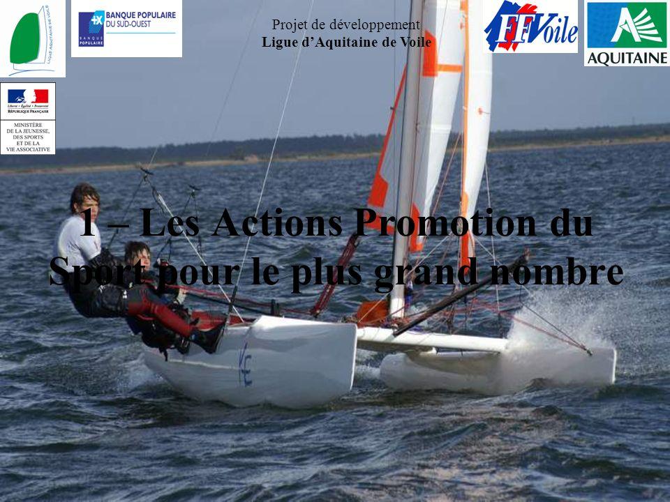 1 – Les Actions Promotion du Sport pour le plus grand nombre
