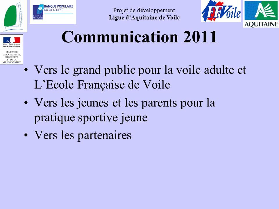 Communication 2011 Vers le grand public pour la voile adulte et L'Ecole Française de Voile.