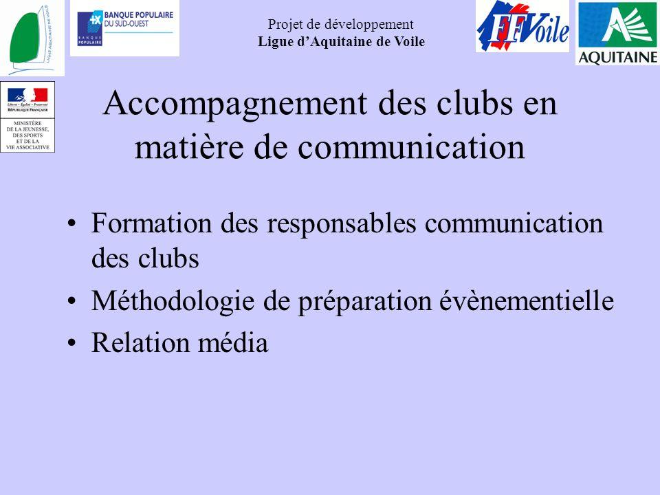 Accompagnement des clubs en matière de communication