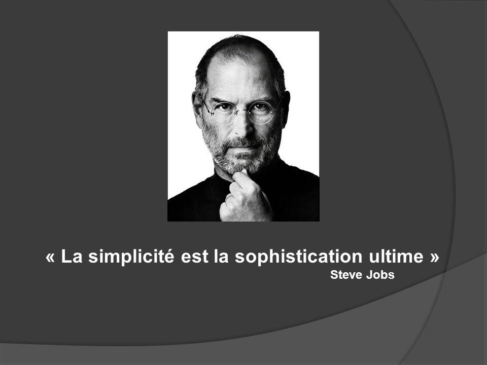 « La simplicité est la sophistication ultime »