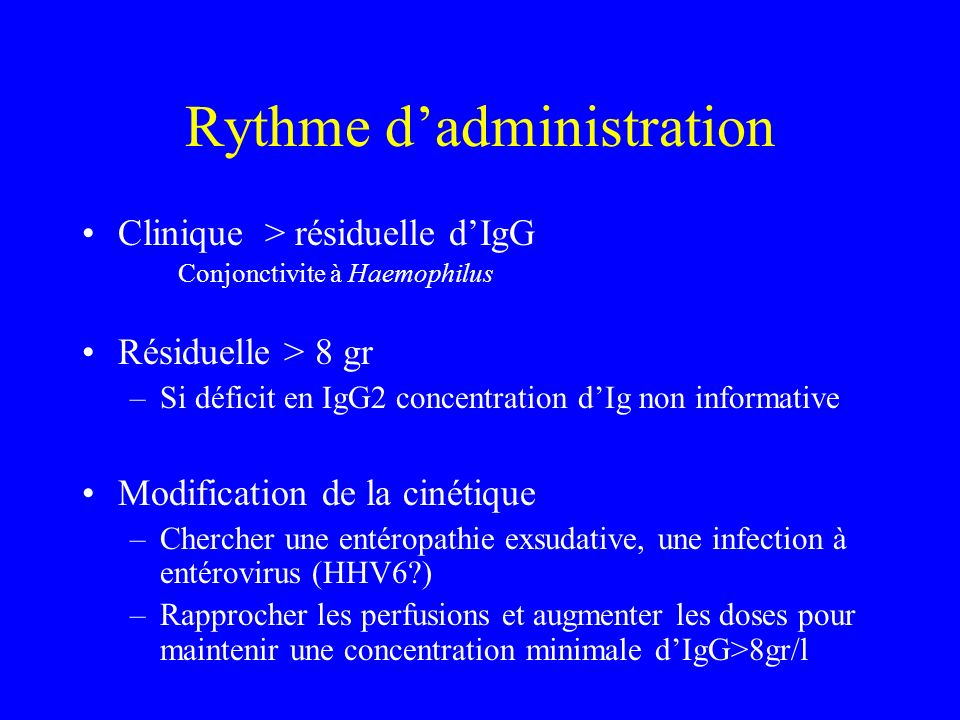 Rythme d'administration