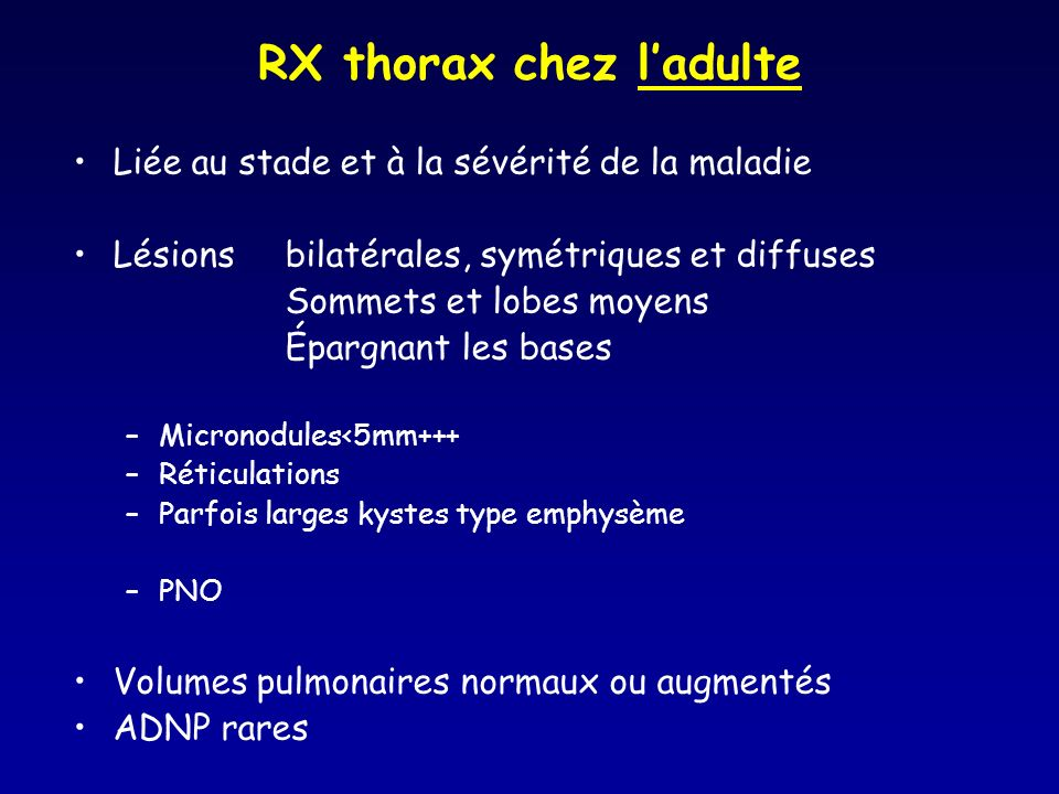 RX thorax chez l'adulte