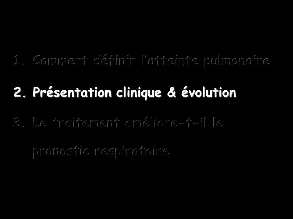 Comment définir l'atteinte pulmonaire