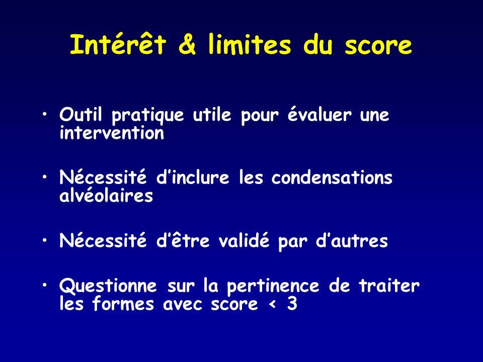 Intérêt & limites du score