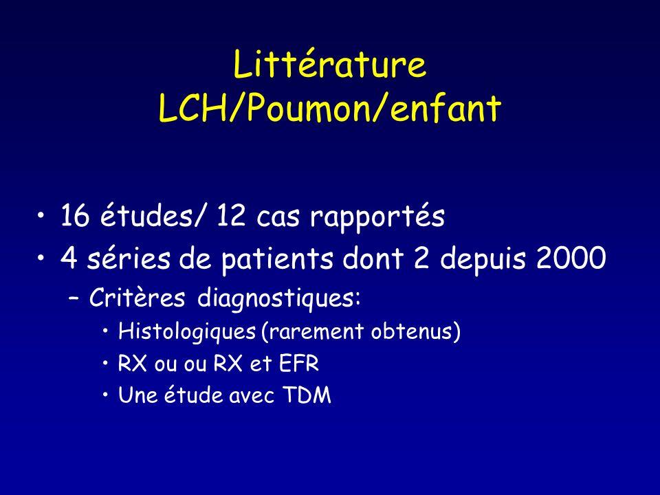 Littérature LCH/Poumon/enfant