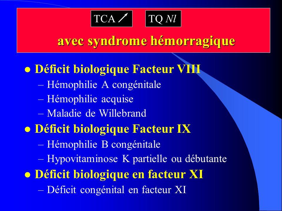 avec syndrome hémorragique