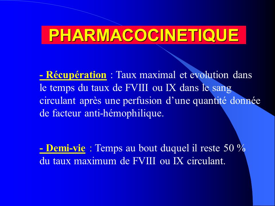 PHARMACOCINETIQUE