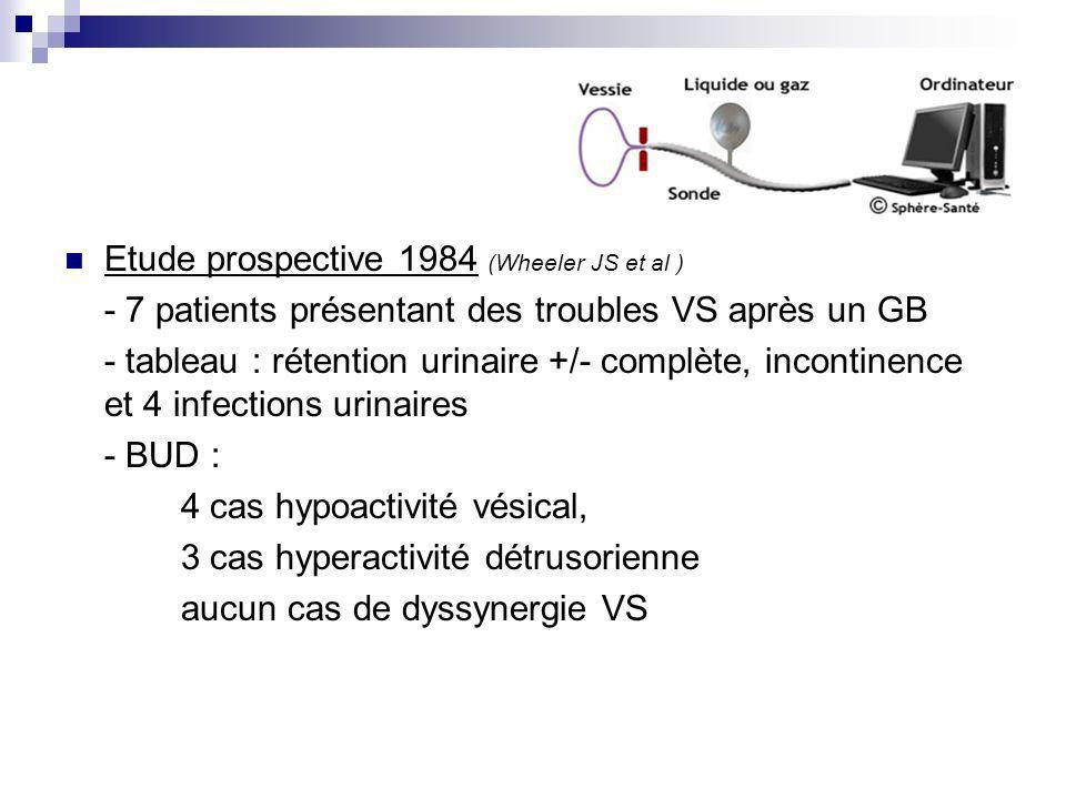 Etude prospective 1984 (Wheeler JS et al )