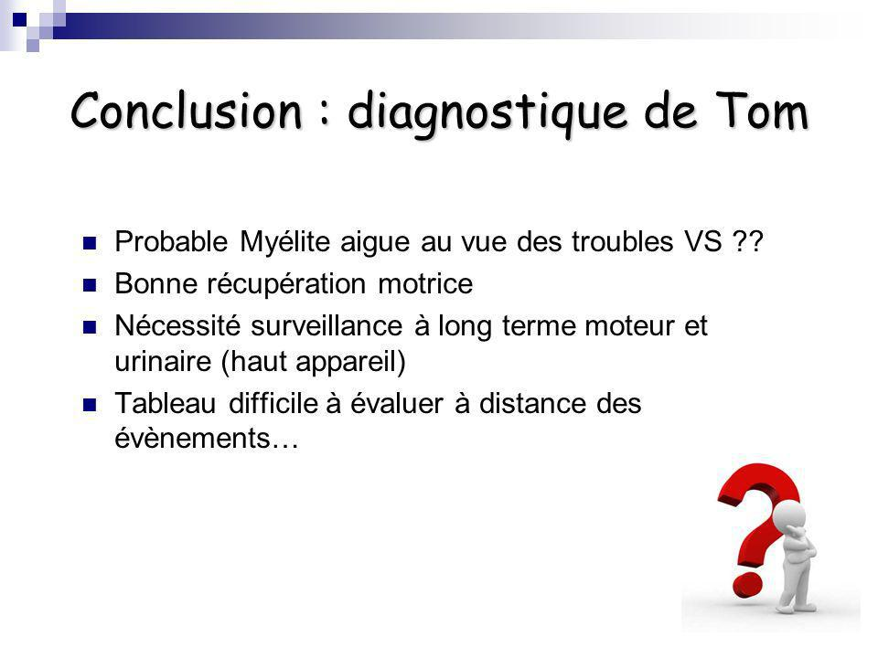 Conclusion : diagnostique de Tom