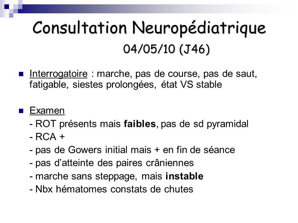 Consultation Neuropédiatrique 04/05/10 (J46)