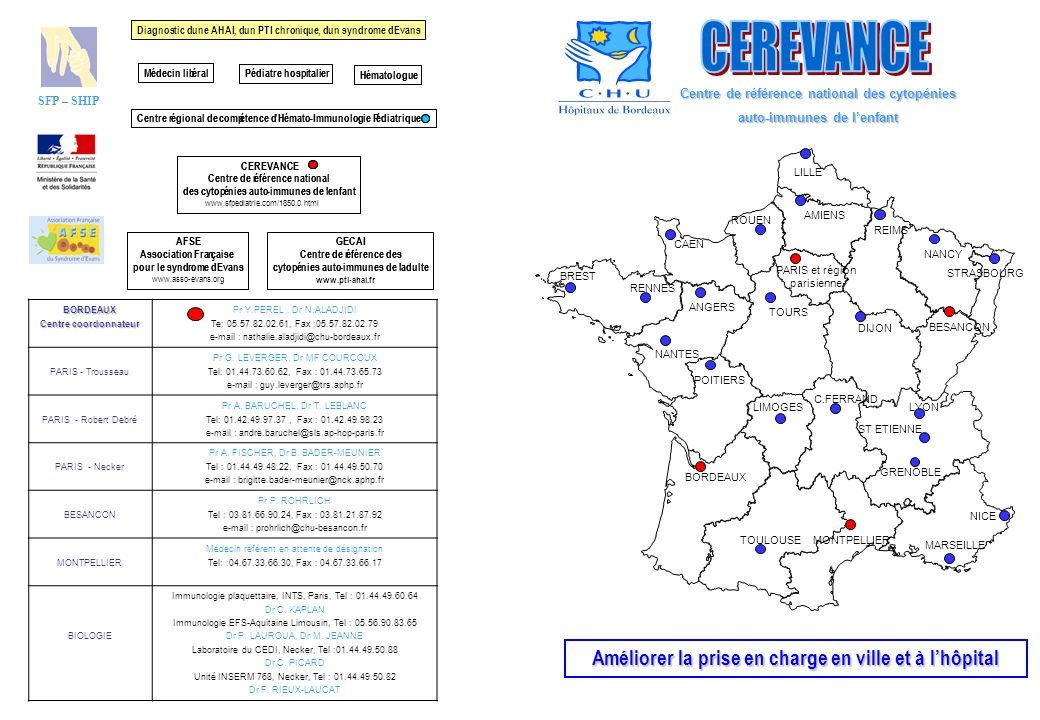 CEREVANCE Améliorer la prise en charge en ville et à l'hôpital
