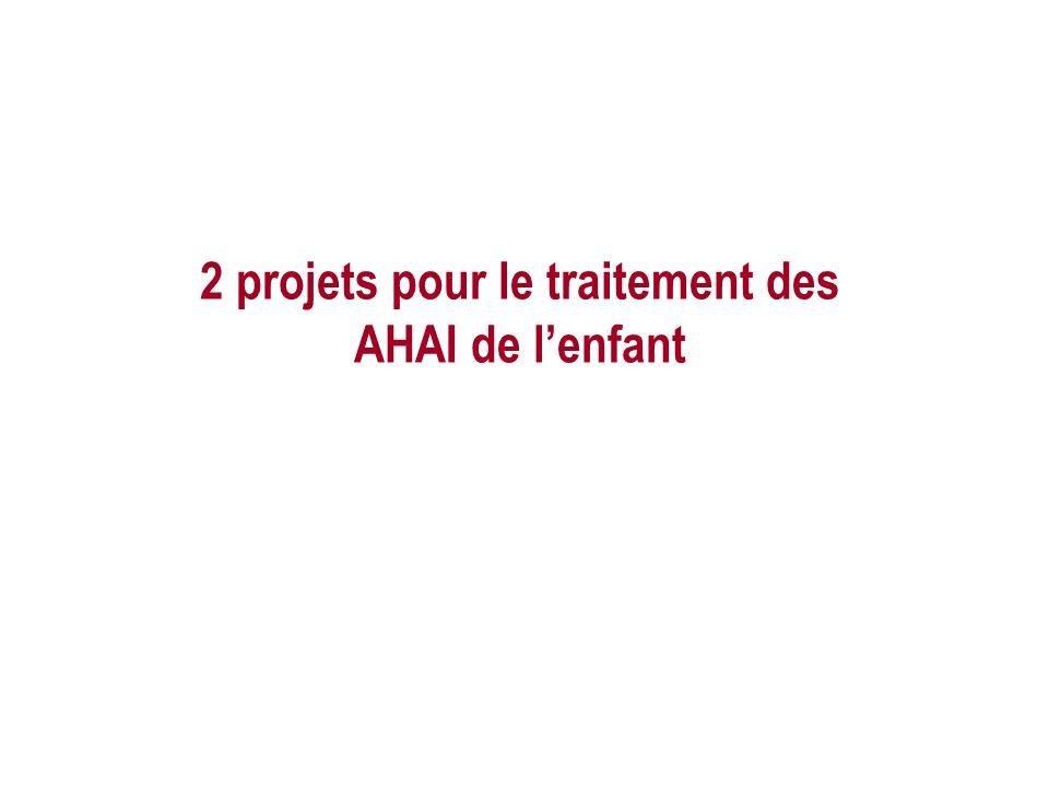 2 projets pour le traitement des AHAI de l'enfant
