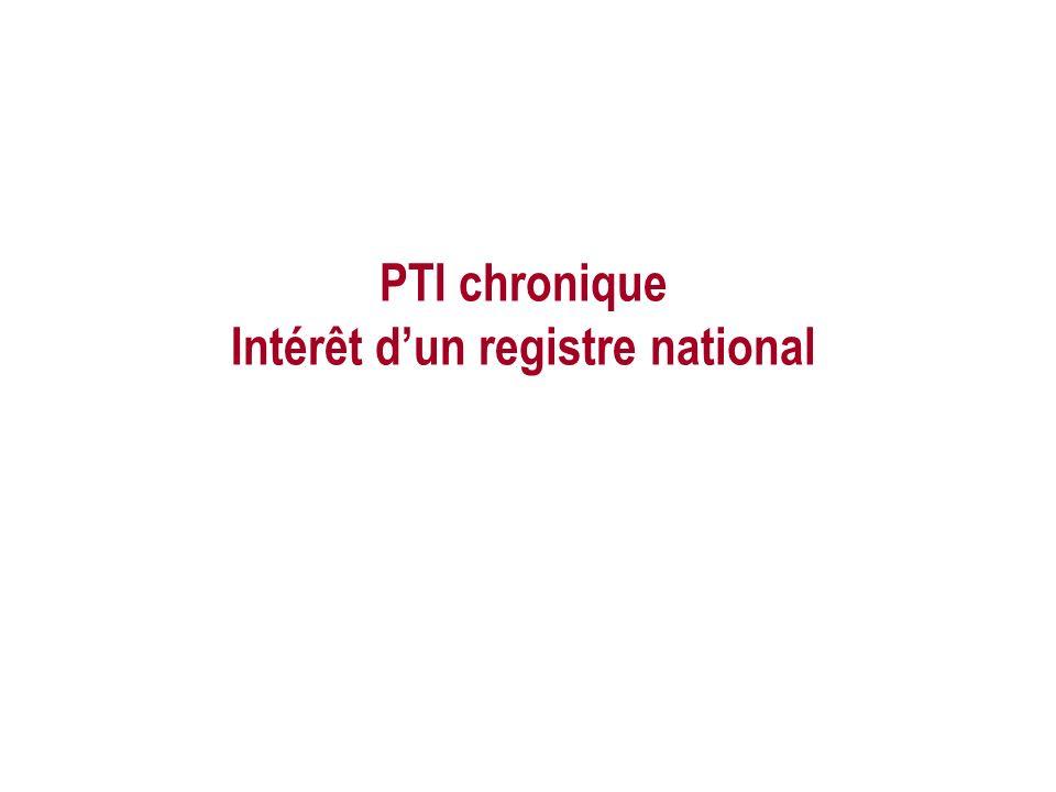 PTI chronique Intérêt d'un registre national