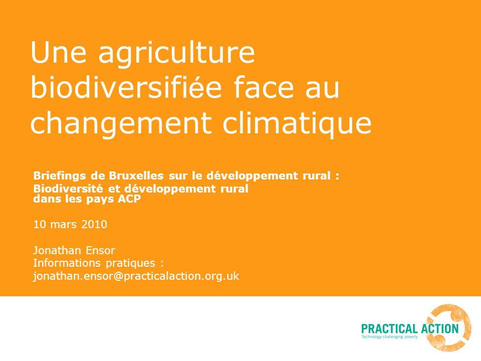 Une agriculture biodiversifiée face au changement climatique