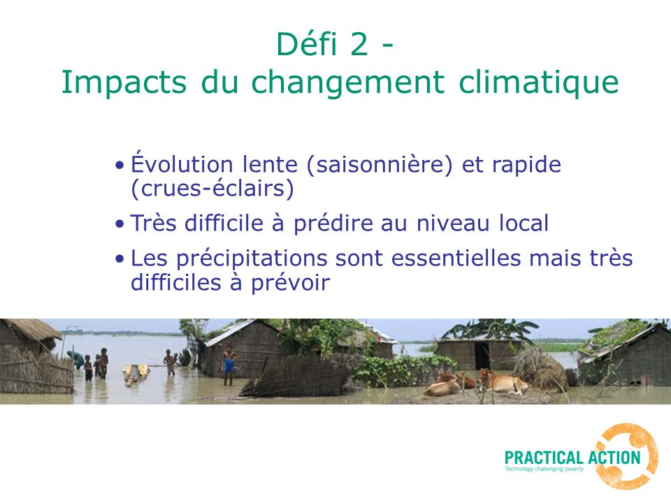 Défi 2 - Impacts du changement climatique