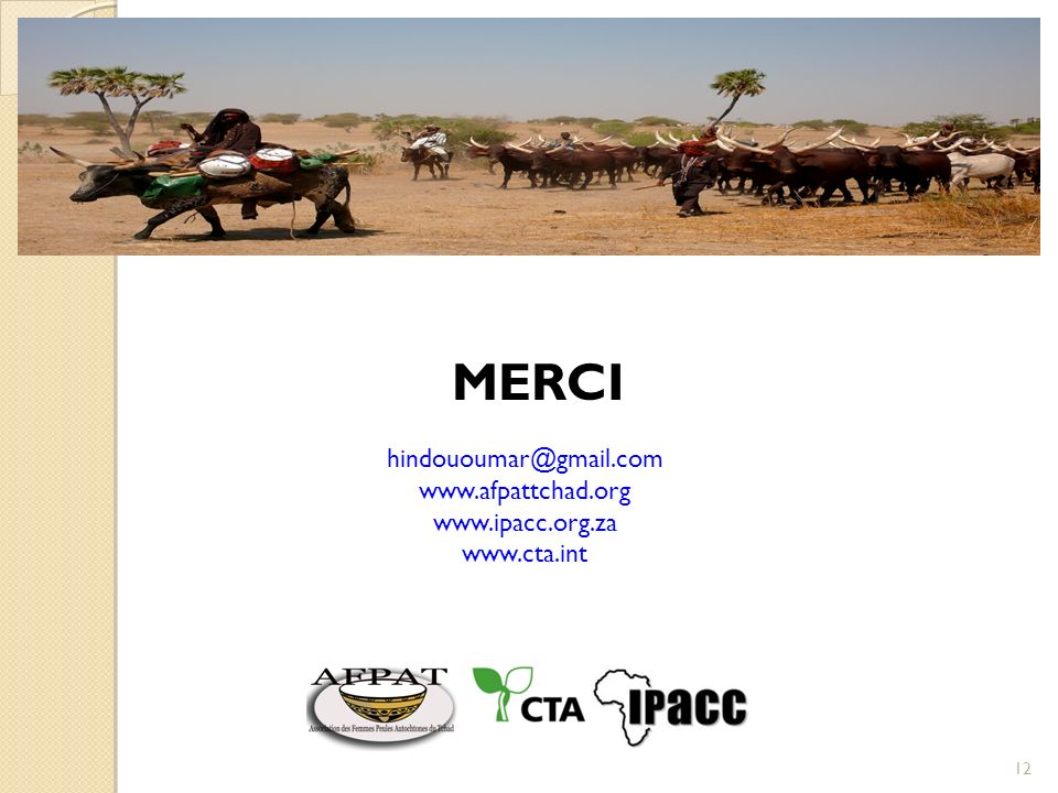 MERCI hindououmar@gmail.com www.afpattchad.org www.ipacc.org.za